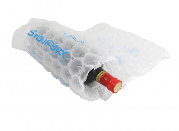Flaschen sicher Verpacken Luftkissen Rolle